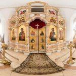 Храм Вознесения Господня в деревне Тешилово панорама