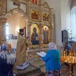 Богослужение в Храме Вознесения Господня в деревне Тешилово 22 июня 2014 года