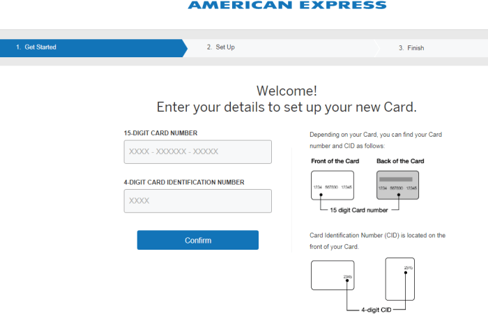 American Express Activation and Set Up your Card