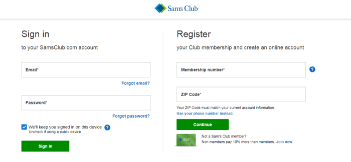 Application for Sam's club credit card and save more