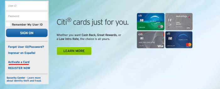 Citi Credit Cards activation