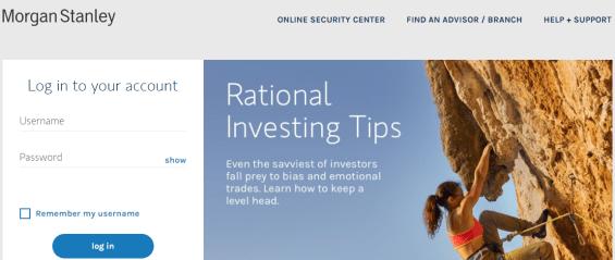 Login Morgan Stanley Client Service Portal