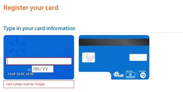 Register New Card Walmart MoneyCard