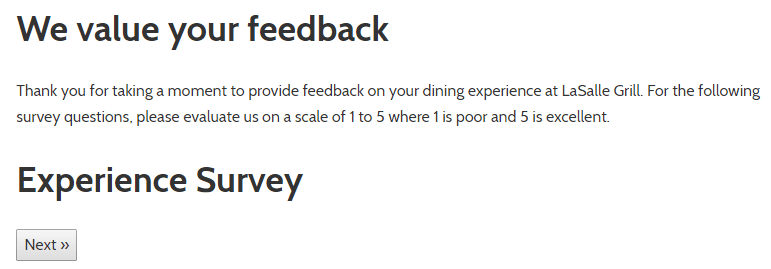 Take-Part-In-Lasalle-Grill-Dining-Experience-Survey