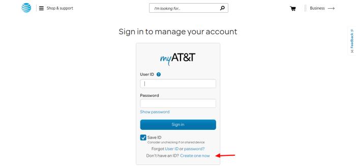 myAT-T-create-account