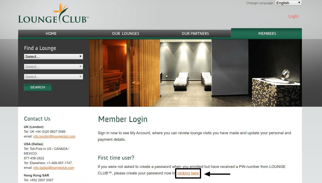 LOUNGE CLUB Create Account