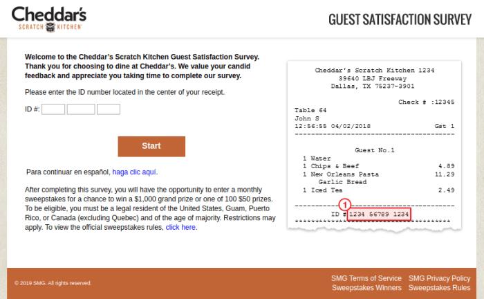 Cheddar s Scratch Kitchen Guest Survey