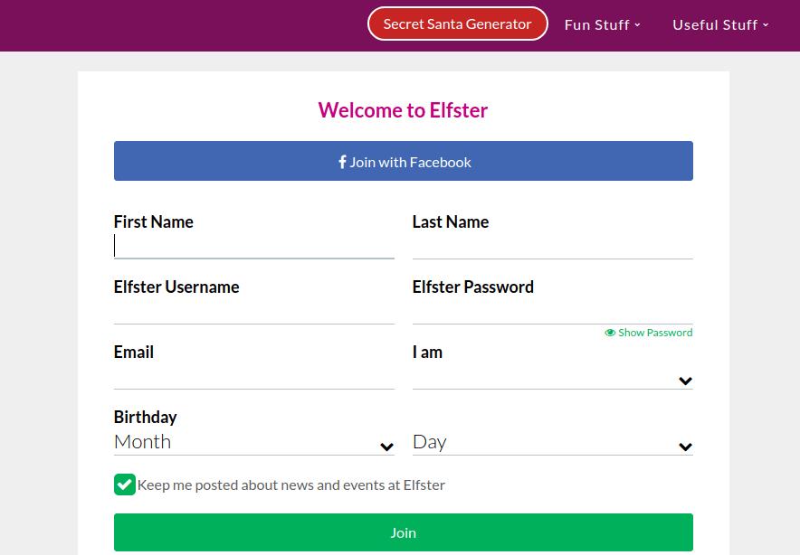 Elfster Register
