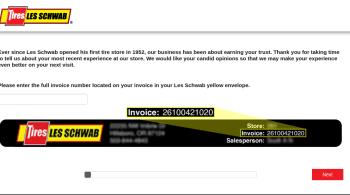 Les Schwab Tire Centers survey