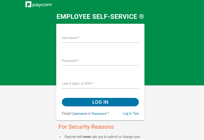 Paycom Employee Login