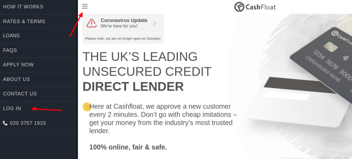 Cashfloat Login