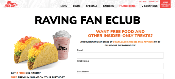 Del_Taco Join Raving Fan Club