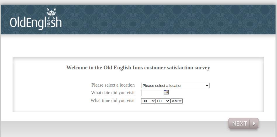 King Old English Survey Logo