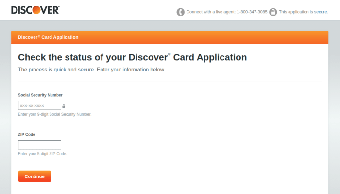 Discover Card Check Status