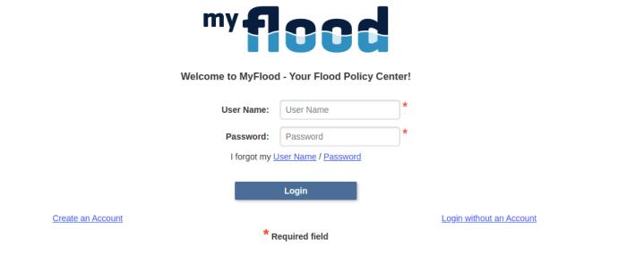 MyFlood Login