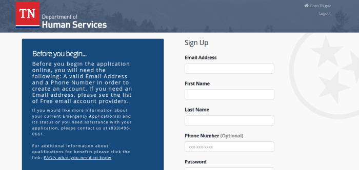 Relief Registration Relief Portal Sign Up