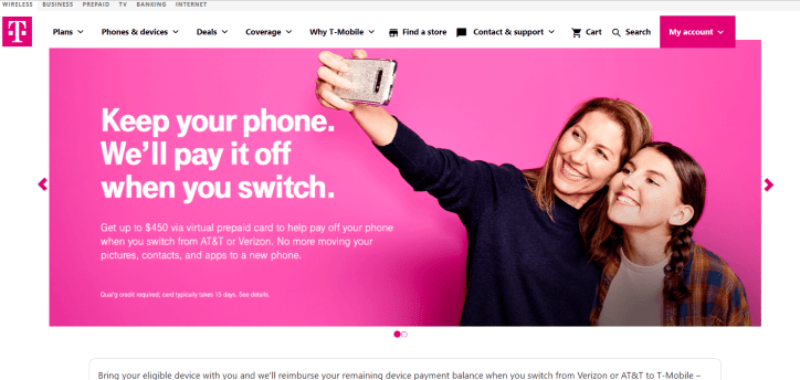 T mobile account