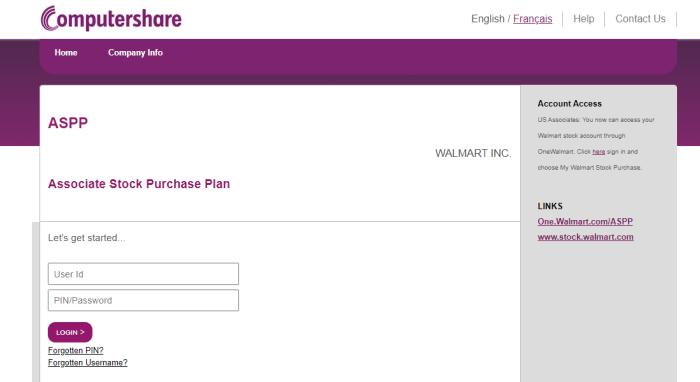 walmart computershare login