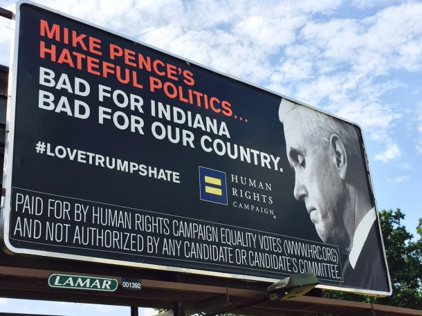 Mike Pence billboard