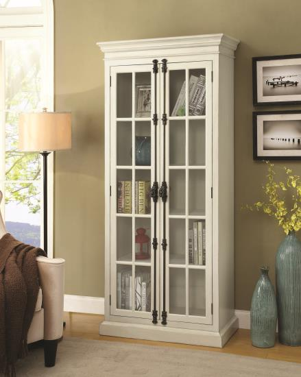 Classic French Inspired Curio Cabinet With Antique French Door Bolts
