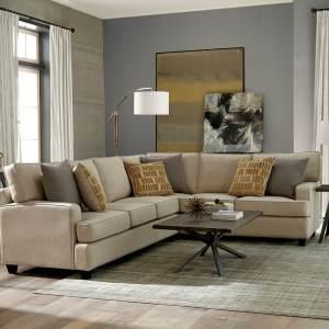 Linen Stationary Living Room Sectional