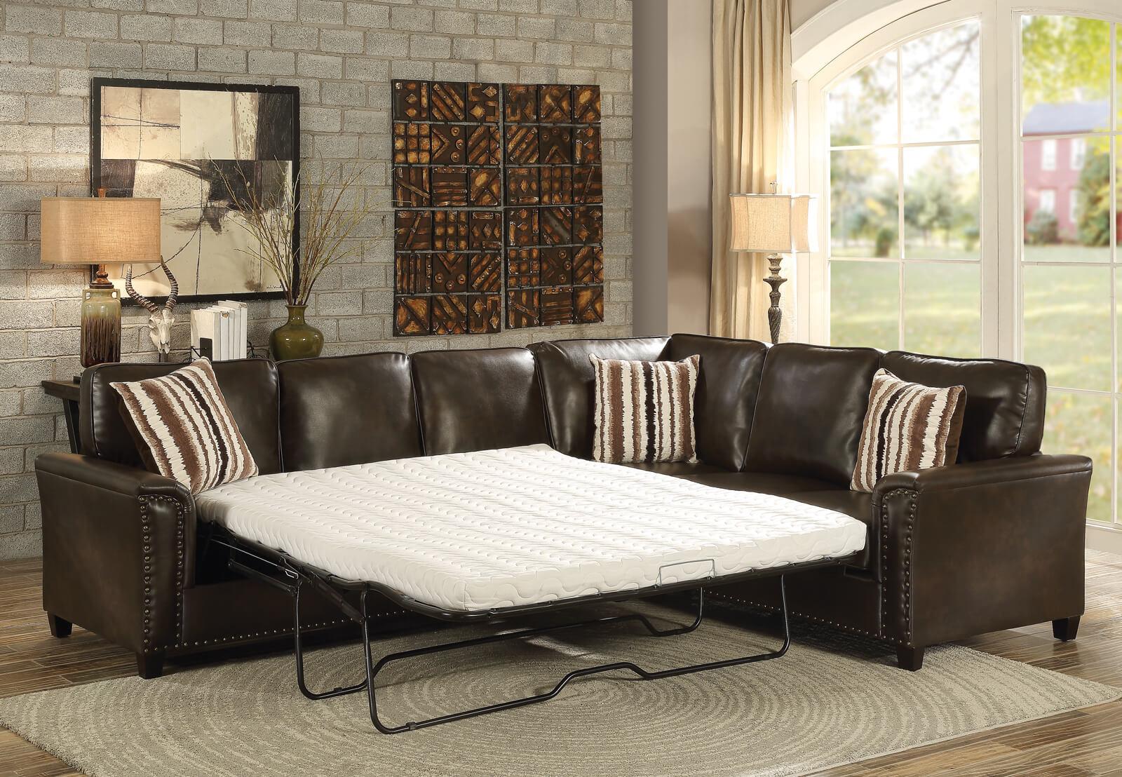 Dark Brown Sectional Sofa - HRC Furniture