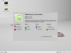 LMDE - Mint Debian MATE welcome