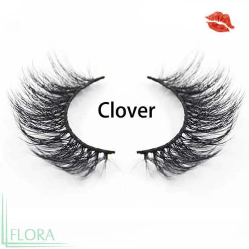 A pair of 3D faux mink eyelashes Vegan lashes DW12a Wand lashes