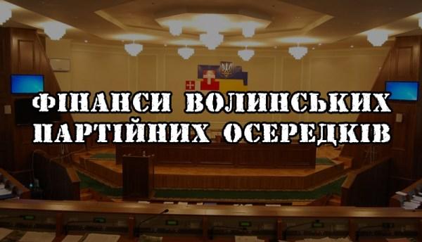 Фінанси волинських осередків політичних партій: хто, скільки і кому