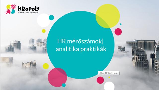 HR mérőszámok és analitika praktikák