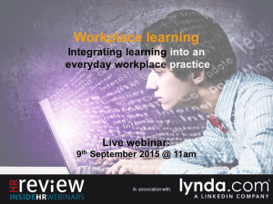 Workplace Learning Webinar