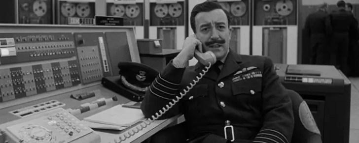 Group Captain Lionel Mandrake from Stanley Kubrick's 'Dr Strangelove'.