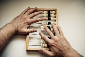 Abacus with hands