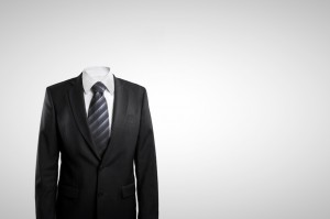 invisible man in suit