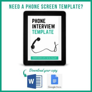 phone screen template