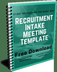 Recruitment Intake Meeting Template
