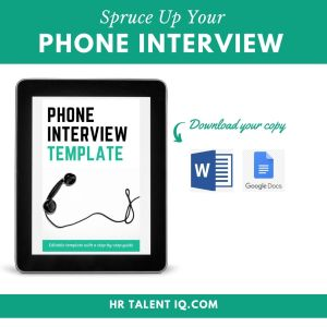 Download a Phone Interview Template