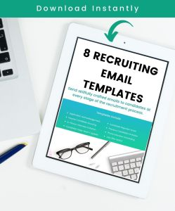 Recruiting Email Templates (instant download)