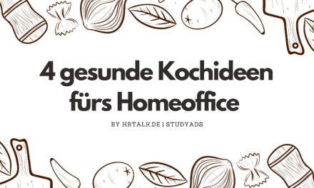 4 gesunde Kochideen fürs Homeoffice