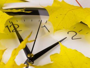 Daylight saving time ends at 2 a.m. on Sunday, November 5.