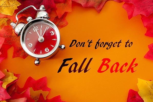 Daylight saving time ends on Sunday, November 3.