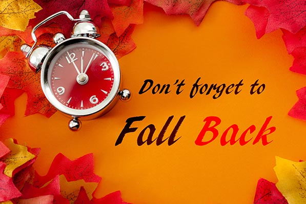 Daylight saving time (DST) ends on Sunday, November 3.