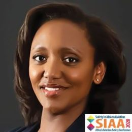 Picture of a Keynote Speaker, Yvonne Makolo CEO of RwandAir