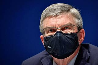Thomas Bach, Chairman of the International Olympic Committee (IOC), at a press conference on Saturday.