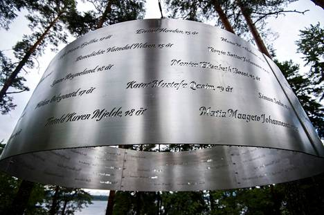 The names of the victims are reminiscent of the gloomy day on the island of Utøya.