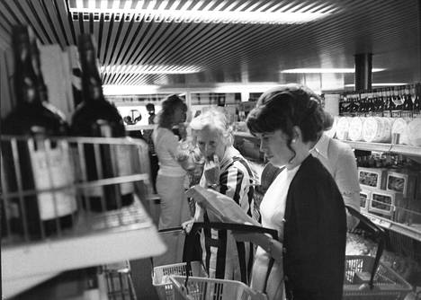 The offering of the tax free store attracted and continues to attract people to the ships.  Pictured is a selection of wonders in 1972.