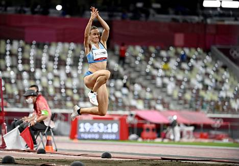 Senni Salminen jumped at the Tokyo Olympics in early August.  He was eliminated from the final race narrowly.