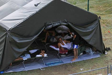 Lithuania has accommodated migrants in tents and, among other things, in old schools.