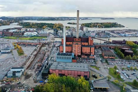 Hanasaari power plant photographed in October 2020.