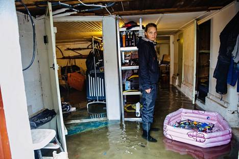 """Ulrika Ahrman woke up on a rainy night to an emergency text message from the authorities, which came from three at night.  """"Or I woke up in the rain.  The whole house was shaking. """""""